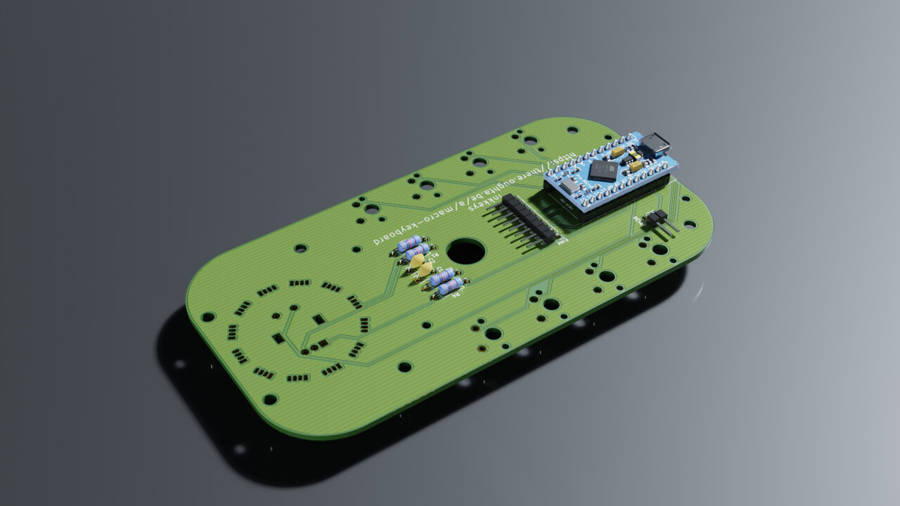 Rendered view of the bottom of the device with all components in place.