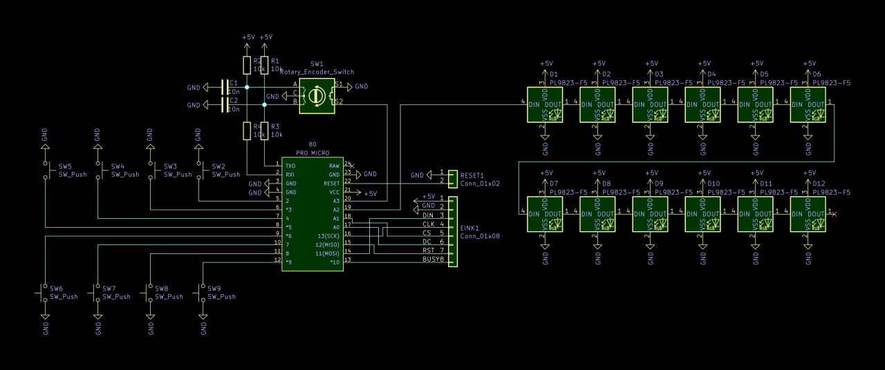 Circuit diagram of the device.