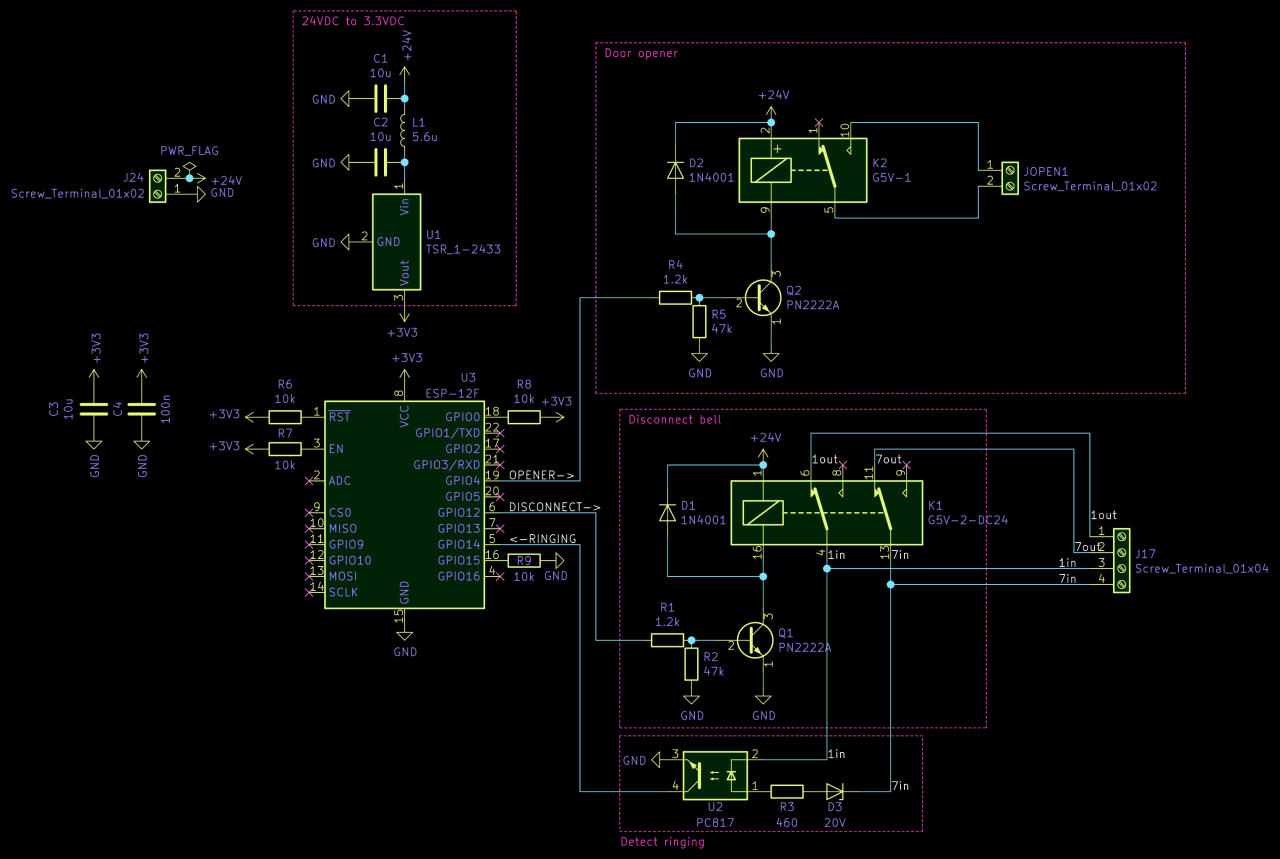Circuit diagram of the entire PCB.