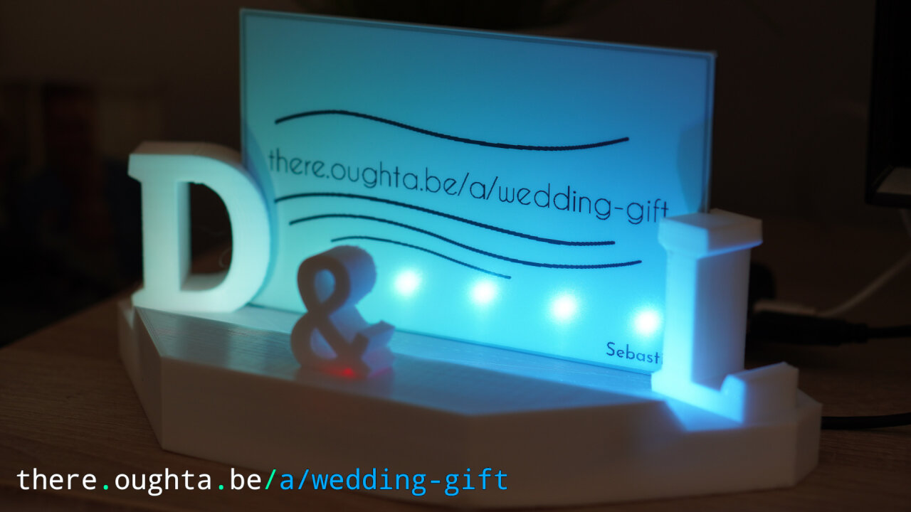 Thumbnail of a youtube video the wedding gift with an illuminated e-ink screen.